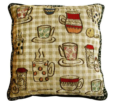 "Rustic Cafe 18"" x 18"" Tapestry Decorative Pillow"