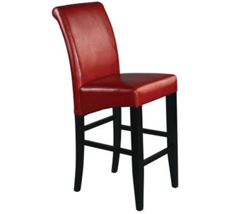 "30"" Parsons Bar Stool in Red Faux Leather by Office Star - H349731"