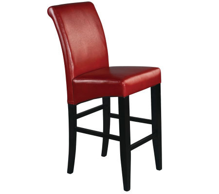 "30"" Parsons Bar Stool in Red Faux Leather by Office Star"