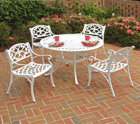 "Home Styles Biscayne 5-Piece Outdoor Dining Set48"" Table"