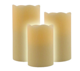 Pacific Accents Set of 3 Melt Top Graduated Flameless Candles - H359231