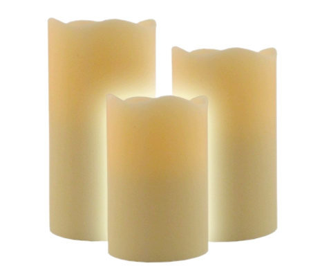 Pacific Accents Set of 3 Melt Top Graduated Flameless Candles