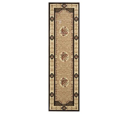"Rugs America New Vision Aubusson 2'3"" x 7'10"" Runner"