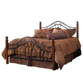 Hillsdale House Madison Twin Bed - Cherry Finish/Black - H156332