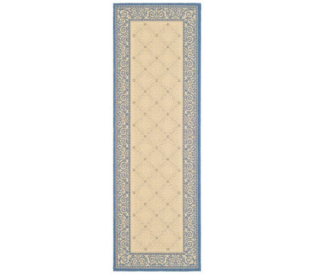"Safavieh Courtyard Lattice Flower 2'4"" x 6'7"" Rug"