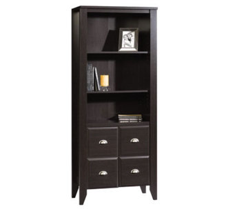 Sauder Shoal Creek Library w/Doors - Jamocha Wood Finish - H182532