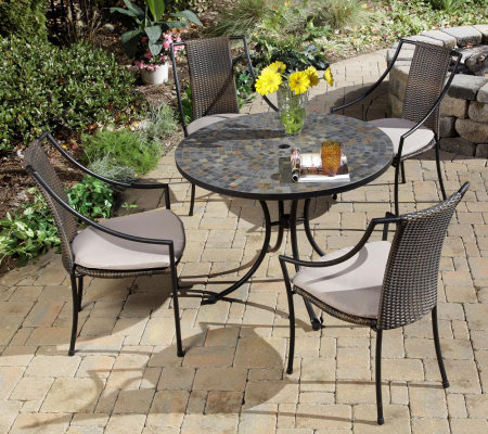 Home Style Stone Harbor Outdoor Dining Table