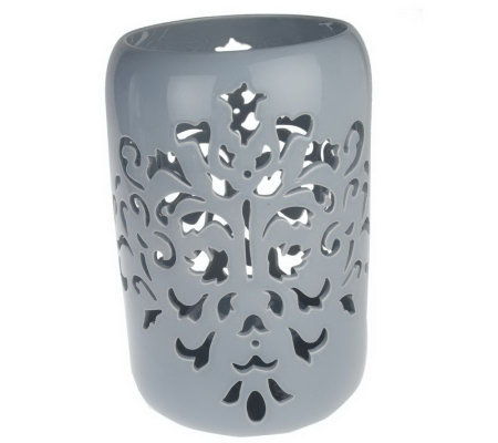 "Bombay Damask 11 3/4"" Cutout Candle Holder"
