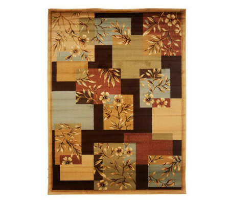 "Bombay Floral Tile 5'3"" x 7'3"" Power Loomed Rug"