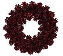 "ED On Air 14"" Rustic Mixed Pinecone Wreath by Ellen DeGeneres - H207032"