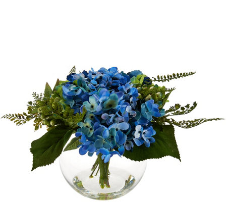 Hydrangea and Berry Floral Arrangement by Valerie