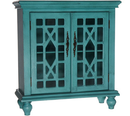 Home Reflections Accent Cabinet with Glass Front Doors