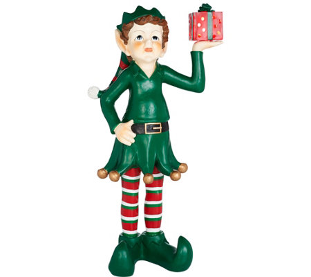 "40"" Oversized Indoor/Outdoor Lit Elf by Valerie"