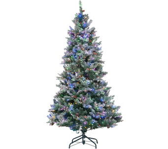 ED On Air Santa's Best 7.5' Frosted Simon Tree by Ellen DeGeneres - H209432