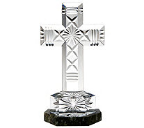 """As Is"" Waterford Crystal and Connemara Marble Cross - H209532"