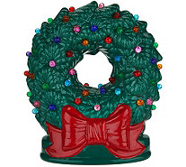 "Mr. Christmas 9"" Illuminated Nostalgic Tabletop Wreath with Bow - H211432"