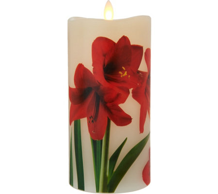Candle Impressions Mirage Holiday Flameless Candle Pillar