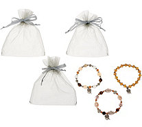 Anniversary S/3 Prayer Box Stretch Bracelets by Valerie - H214832