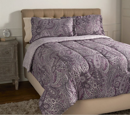 """As Is"" 3-Piece Queen Paisley Comforter Set by Valerie"