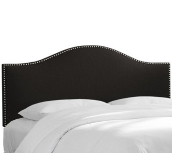 Skyline Furniture Nailhead Button Linen Queen Headboard - H286132