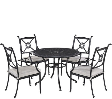 "Athens 42"" Patio Table w/ Four Arm Chairs"
