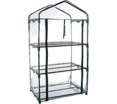 Pure Garden 3-Tier Mini Greenhouse with 3 Shelves and Cover