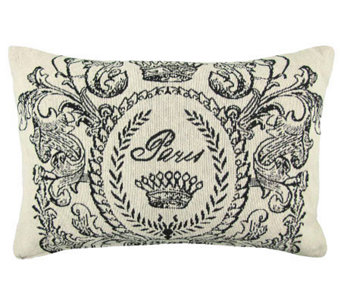 Vintage House Paris Postage 12 x 18 Tapestry Pillow - H356732