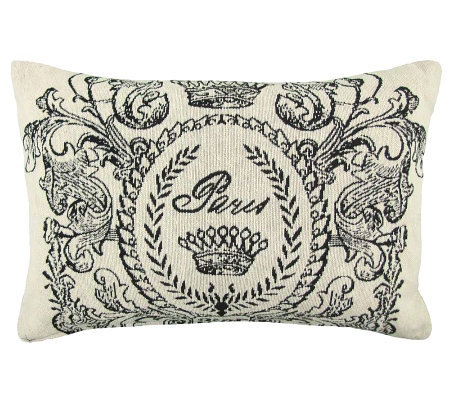 Vintage House Paris Postage 12 x 18 Tapestry Pillow