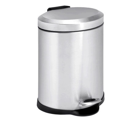 Honey-Can-Do Stainless Steel Oval Five-Liter Step Trash Can