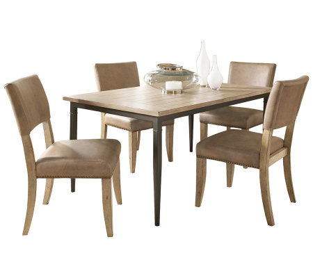Hillsdale Charleston 5pc Rectangle Dining Set w/Parson Chairs