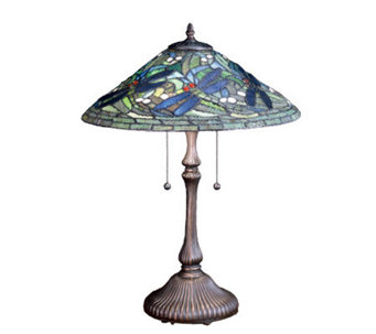 Tiffany-Style Flying Dragonfly Table Lamp - H159733