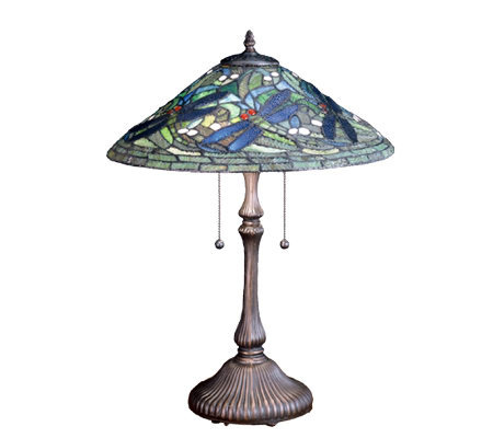 Tiffany-Style Flying Dragonfly Table Lamp