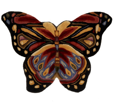 Royal Palace SE Butterfly Harmony 2.25' x 3' Wool Rug