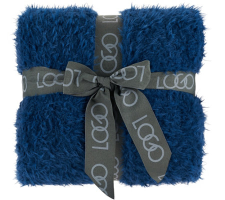 "LOGO by Lori Goldstein 50""x70"" Faux Fur Throw"