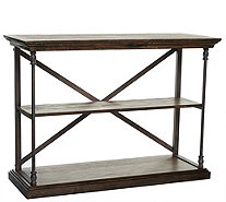Home Reflections Rustic Open Shelf Console Table - H208033