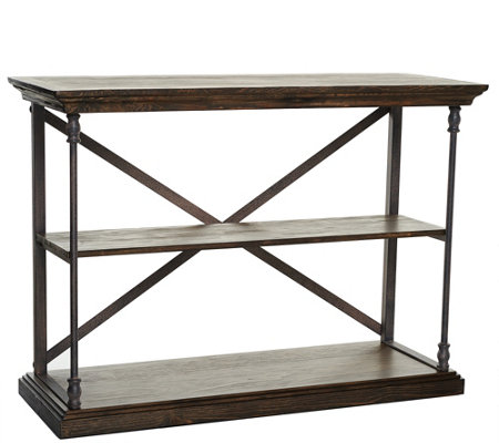 Home Reflections Rustic Open Shelf Console Table