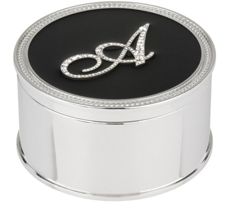 """As Is"" Safekeeper Initial Jewelry Box w/Rope Trim by Lori Greiner"