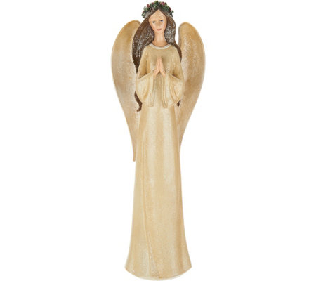 "17.5"" Angel Holding Cardinal or Praying by Valerie"