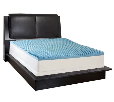 "ComforPedic by Beautyrest 4"" Convoluted Mem.Foam KG Topper"