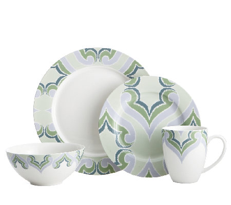 Oneida Amber Green 16-Piece Dinnerware Set