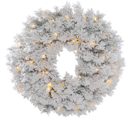 "30"" Flocked Alaskan Wreath by Vickerman"