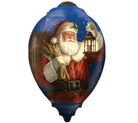 Limited Edition Dated 2016 Santa Ornament by Ne'Qwa