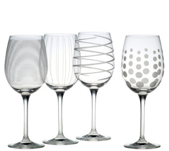 Mikasa Set of 4 White Wine Glasses - Cheers Collection - H289233