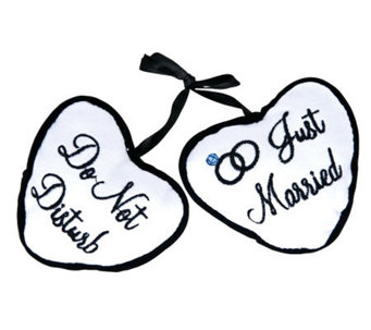 "4"" Just Married / Do Not Disturb Door PillowHanger - H350933"