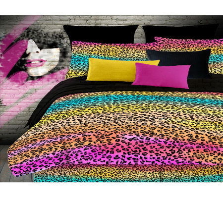 Veratex Rainbow Leopard Twin Comforter Set