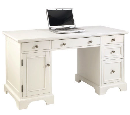 Home Styles Naples Pedestal Desk - White Finish
