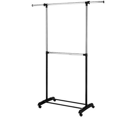 Whitmor Adjustable Two-Rod Garment Rack