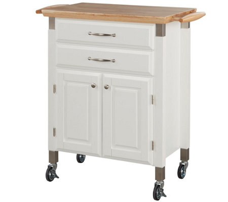 Home Styles Dolly Madison Prep and Serve Kitchen Cart -White
