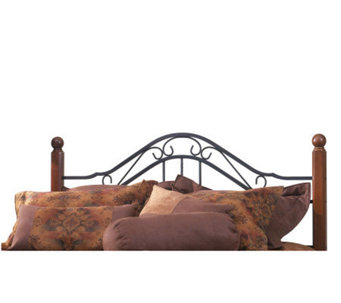 Hillsdale House Madison F/Q Headboard - CherryFinish/Black - H156334