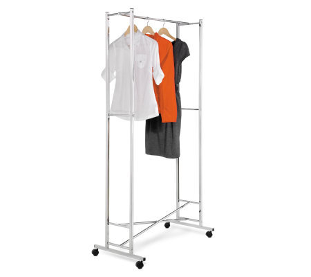 Honey-Can-Do Square Tube Folding Garment Rack -Chrome